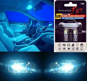 LED 3030 Light Icy Blue 8000K 168 Two Bulbs License Plate Tag Replace Fit Show