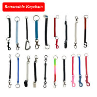 Spiral Retractable Spiral Stretchy Elastic Coil Keyring Key Chains Ring Plastic