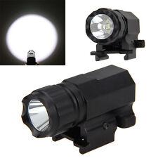 Waterproof Tactical LED Flashlight 2 Mode 1600LM Pistol Rifle Torch Lamp For Gun