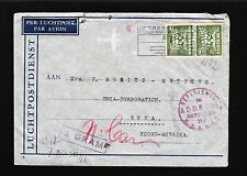 Germany Occupied Netherlands 1941 Frankort Censor Auxiliary Deficiency Cover 7v