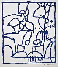 Paul señor Mann-composición abstracta-Corte Madera-para 1967-prueba de impresión