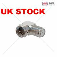 4 X Right Angled Angle 90 degree F Connector Female to RF Coax Male Plug Aerial