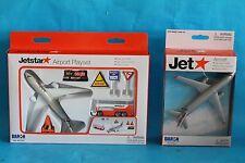 Jetstar Airport Toy Playset Die Cast metal Boeing 787 & Airbus Model Plane