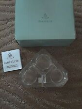 Partylite Mini Crystal Glass Castle 3 Tier Tealight Holder