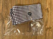 The White Company 4 dark brown checked table napkins