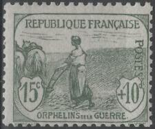 """FRANCE STAMP TIMBRE N° 150 """" ORPHELINS FEMME LABOUR 15c + 10c """" NEUF xx TB K161"""