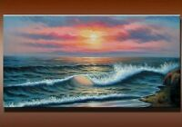 CHPT94 high quality 100% hand painted Oil Painting art Canvas,beautiful seascape