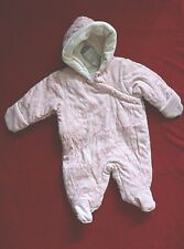 First Impressions Snowsuit/Pram size 3-6 mo retail $54.50 Pink with Pink Hearts