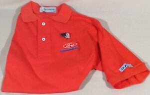 Vintage Embroidered Ford Motorsports Polo Shirt Sm & Enamel Ford/Flag Pin