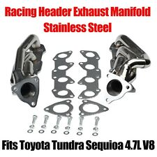 Stainless Steel Exhaust Header Manifold System Kit For 00-04 Toyota Tundra 4.7L