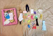 Vintage Mattel World of Barbie Doll Case Hang Kong Doll & Accessory Lot