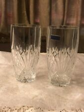Pair Of Marquis By Waterford Cut Crystal Brookside Highball Glasses