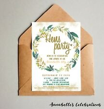 Hens Party / Bridal Shower Invite / Invitation Floral Save The Date personalised