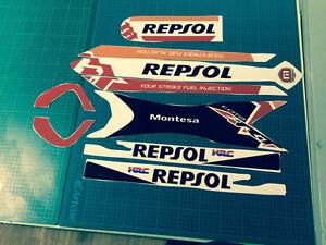 Montesa  4RT  2014 style Works Repsol Mudguard / Fender & Frame  Decal Set