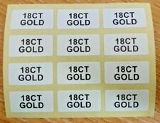 18CT GOLD Jewellery Labels Sticker 20mm x 10mm Gold on White or Black on White