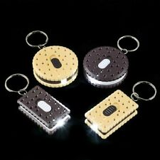 12 pack Cookie Sandwich Led Flashlight Swivel Key Chains One Dozen Free Shipping