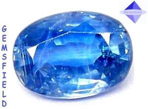 SI - 1.58ct !!! KYANITE DE SRI LANKA !!! lumineux bleu cachemire !!! poli AAA++