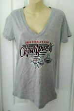 WASHINGTON CAPITALS Womens T Shirt Size Large Stanley Cup Champions Gray New