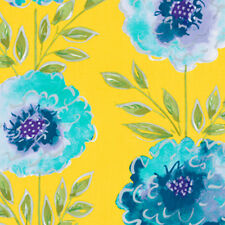 Dena Designs The Painted Garden Rose Fabric in Yellow PWDF137 100% Cotton