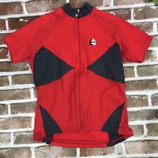 Etxeondo Special Cycling Jersey Womens Red Short Sleeve Pockets Large Full Zip