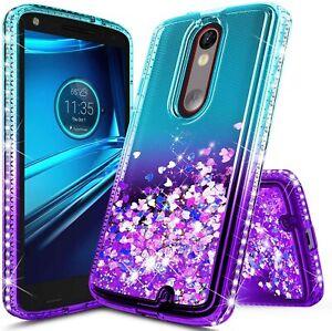 For Motorola Moto Droid Turbo 2 Case, Liquid Glitter Bling Diamond Phone Cover