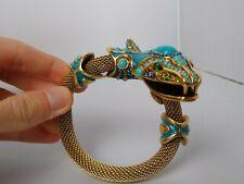 RARE Signed Lanvin Paris Vintage Snake Figure With Beautiful Gems Make Offer!