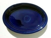 "Homer Laughlin Fiesta Fiestaware 13 1/2"" Oval Serving Platter Cobalt Blue HLC"