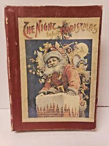 "Vintage ""Night Before Christmas"" Santa Faux Book Storage Gift  Box  6.5"" x 5"""