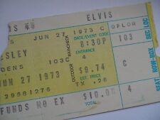 ELVIS PRESLEY Original 1973 Concert TICKET STUB - Cincinnati, OH