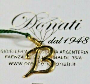 Ciondolo in oro giallo 18 KT 750 /°°° iniziale  B  Made in Italy