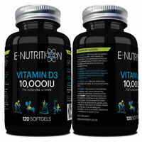 Vitamin D3 10000iu High Strength 120 Soft Gel capsules Vitamin D 10,000iu Vit d