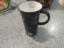 Starbucks 2007 Halloween Trick Or Treat Black & White Mug - FREE SHIP