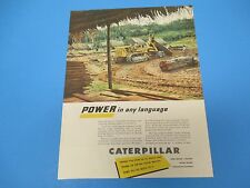 1950 Caterpillar Diesel Engines, tractors, graders, Power, Print Ad PA012