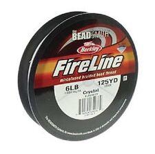 Beadsmith FireLine Beading Thread 6lb, size D, 125yds !!! CRYSTAL colour