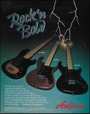 Aria Pro  II Cat Series TSB Standard Bass RS Bobcat Wildcat guitar 8 x 11 ad