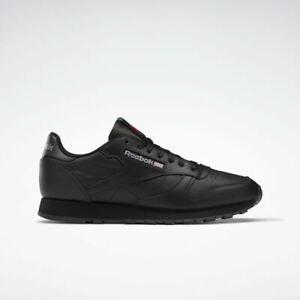 Reebok Men's Classic Leather Shoes NEW AUTHENTIC Black 116