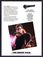 """1989 Lou Reed photo """"Rock & Roll Legend"""" Shure SM58 Microphone promo print ad"""