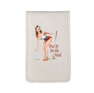 Put It In The Hole Pinup Sunfish Golf Scorecard Yardage Book Holder Cover