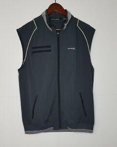 Travis Mathew Make it Rain Golf Vest Gray Men's Sz L Full Zip