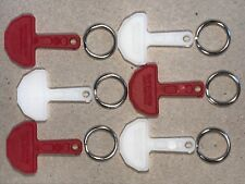 New Pound Coin Shopping Trolley Keys*6* release Keys and split rings per pack,