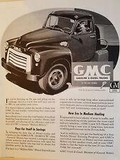1952 GMC Gasoline Diesel Truck Pickup General Motors 20 Ton Print Ad