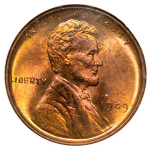 1909 VDB 1C Lincoln Cent - Type 1 Wheat Reverse NGC MS76RB Fatty