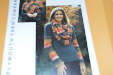 Plymouth Knitting Pattern 2079 Kudo Arm Warmers & Wrap