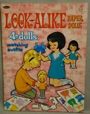 1967 Look Alike Paper Doll Book - The Myers - Whitman Uncut Original