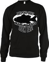 Does This Shirt Make My Bass Look Fat Fishing Joke Funny Long Sleeve Thermal