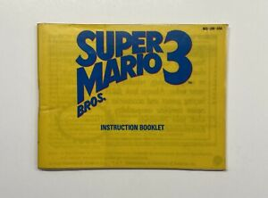 Super Mario Bros. 3 NES MANUAL ONLY Left Bros Brothers LAMINATED COVERS SEE PICS