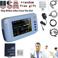 "Portable 5 Parameter 5"" Touch Vital Signs Patient Monitor ECG NIBP SPO2 PR TMEP"