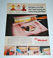 Vintage 1957 New RCA Whirlpool Pink Automatic Washer Print Ad