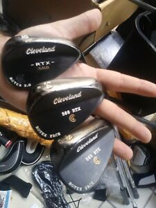 Right  Cleveland 588 rtx rotex, rotex 2.0 wedge set.50,54,58.black