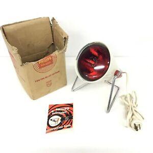 Vintage Phillips Infraphil Heat Lamp Working #544